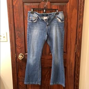 Levi's jeans skinny flare fit size 14 1/2 plus.